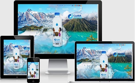 ทำเว็บไซต์น้ำดื่มน้ำแร่ธรรมชาติ-ตราคลาร่า