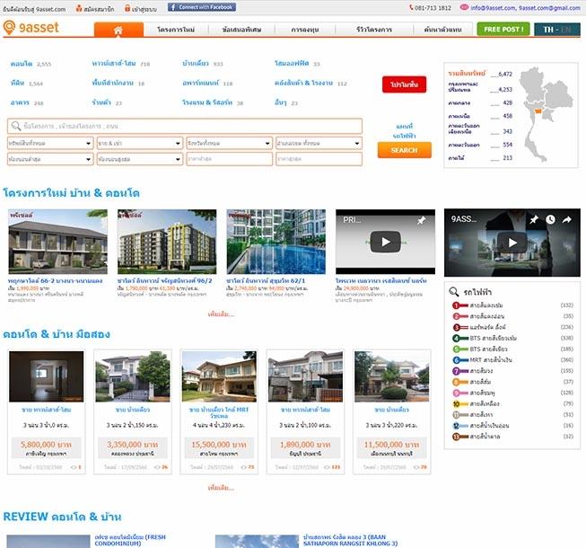 รับทำเว็บไซต์อสังหาริมทรัพย์ ขายคอนโด ขายที่ดิน ขายบ้าน