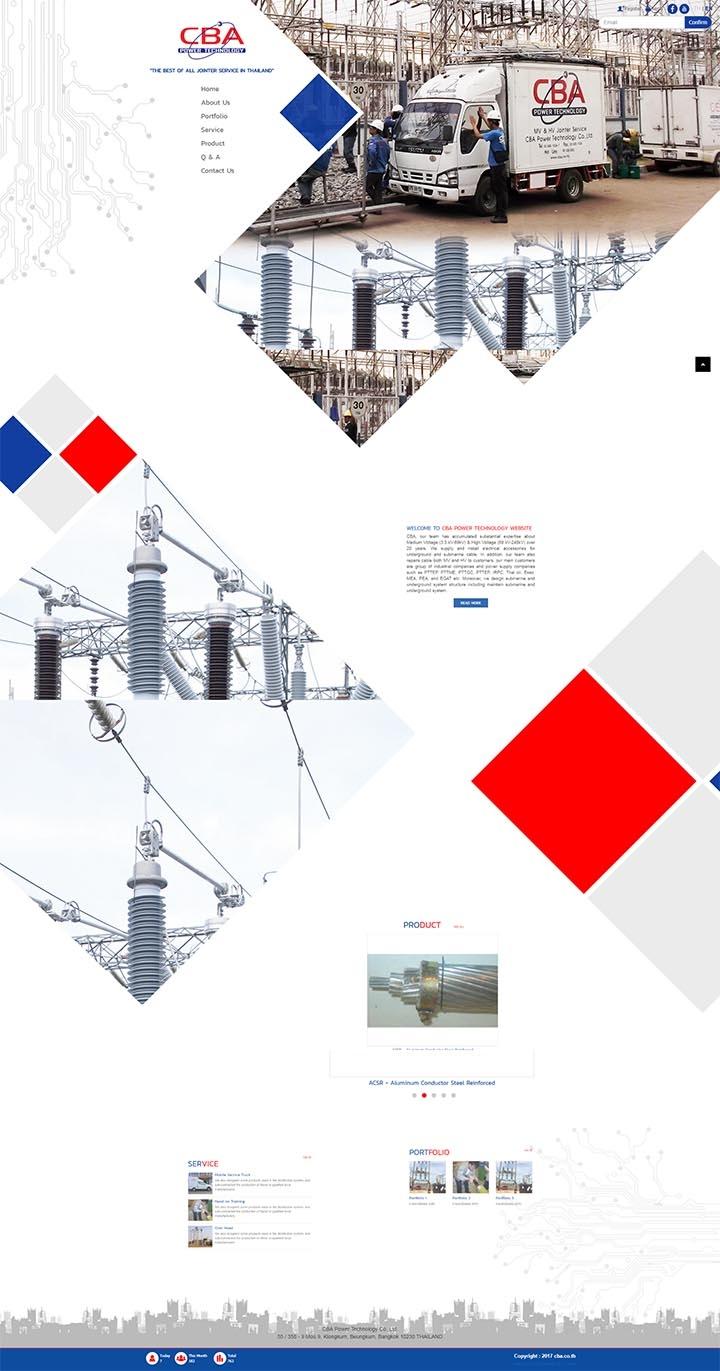 บริษัททำเว็บไซต์ ออกแบบเว็บไซต์ใหม่ ไฟฟ้าแรงงานสูง ไฟฟ้าแรงงานต่ำ